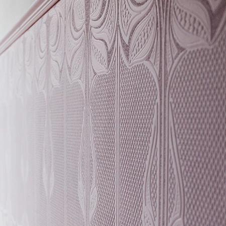 Art Nouveau Anaglypta Dado Panel Wallpaper Anaglypta Wallpaper Paintable Wallpaper Art Nouveau Wallpaper