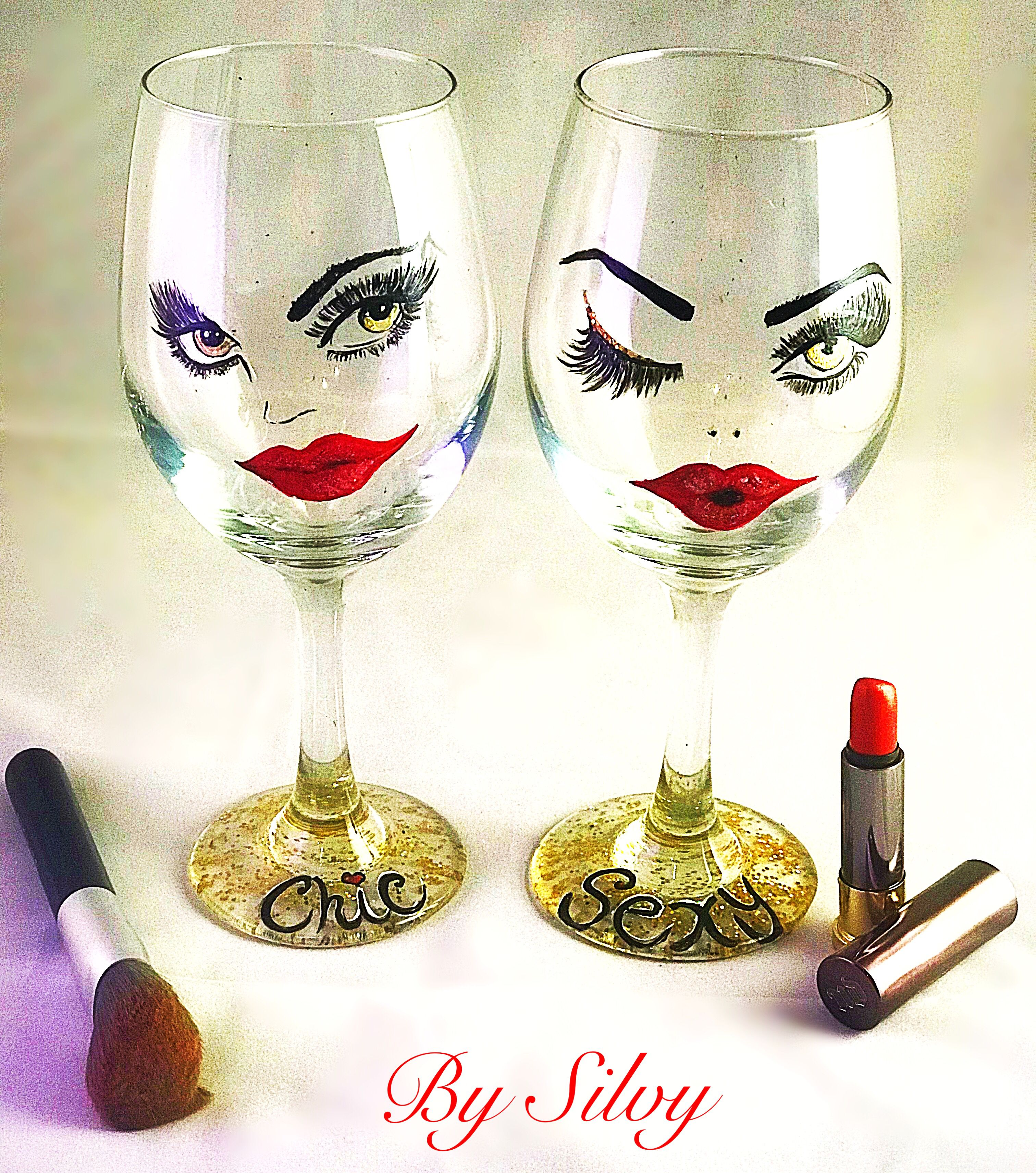 Pin On Hand Painted Wine Glasses By Silvy