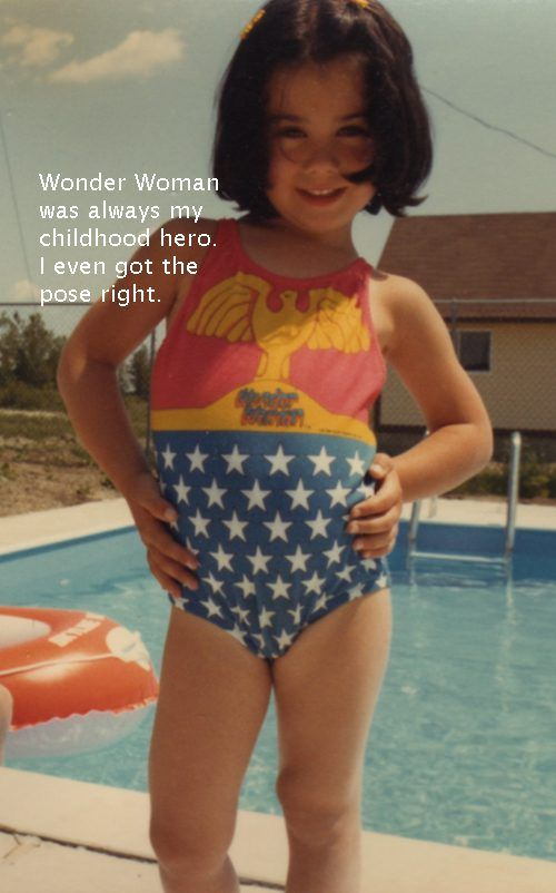 2093d43b5d I really regret not keeping my Wonder Woman swimsuit. @Tanya Weber I sent  my childhood pic to the Berry. They actually put it on their site.