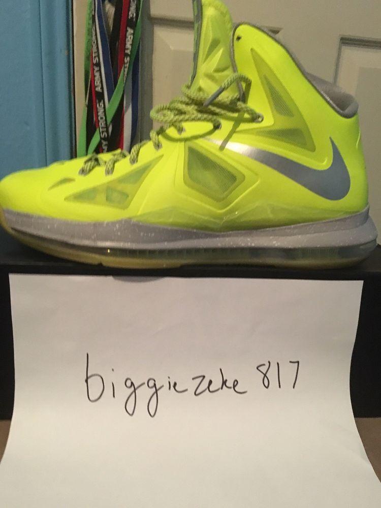outlet store 52a59 5626a Nike Lebron 10 Dunkman Volt  fashion  clothing  shoes  accessories   mensshoes