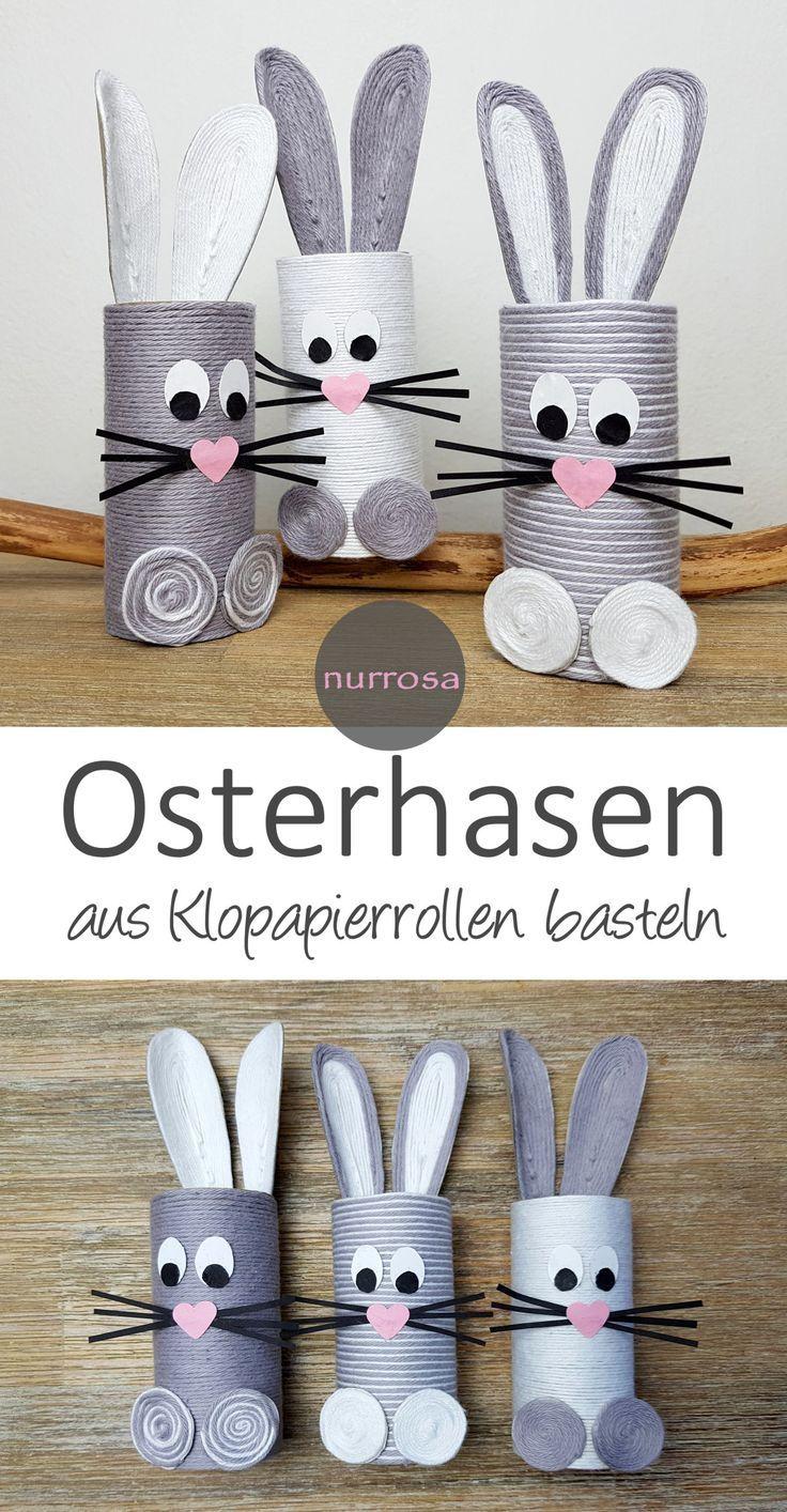 Photo of Osterhasen aus Klopapierrollen basteln – nurrosa – Papierkunst –