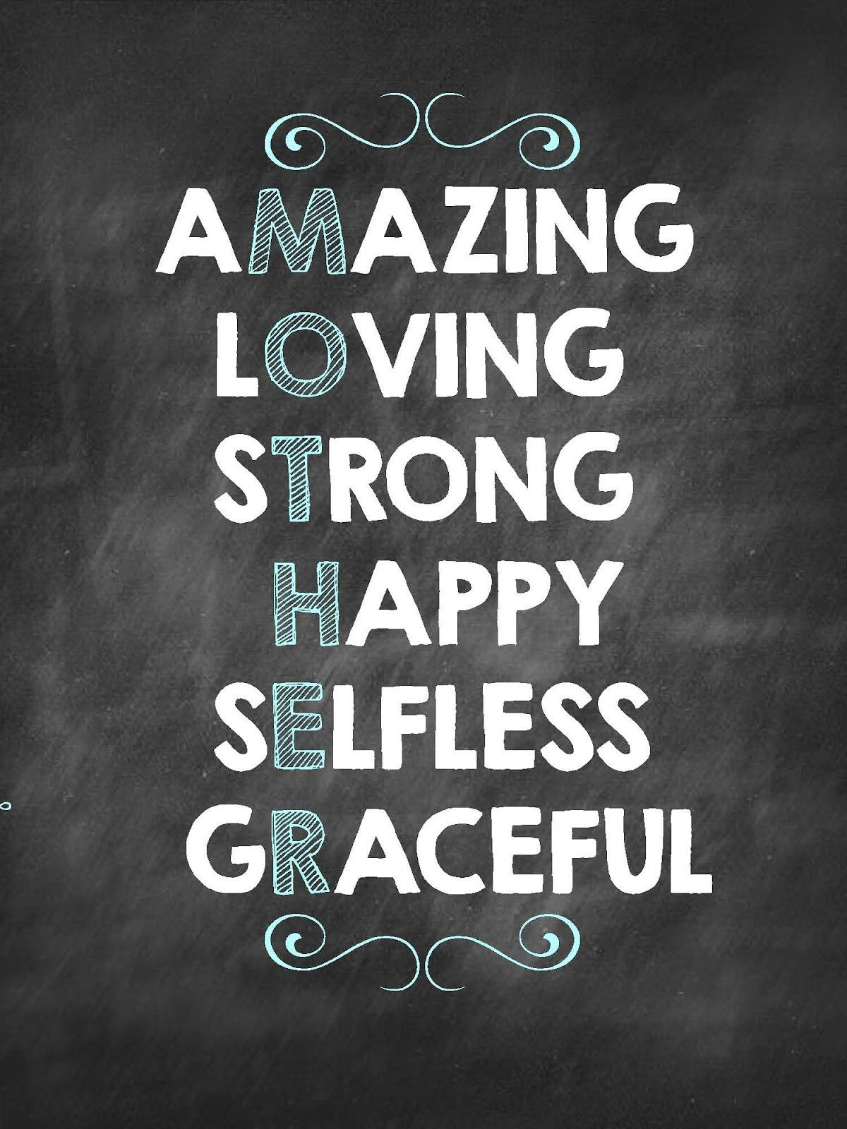 Mothers Day Quotes Pleasing Amazing Loving Strong Happy Selfless Gracefulthat's What A