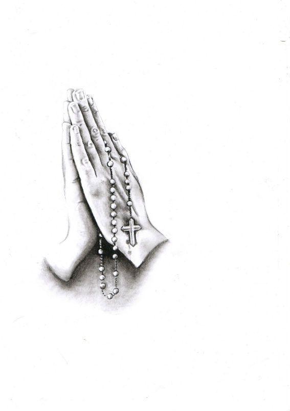Dessin pour tatouage de mains en pri res r alistes - Main en dessin ...
