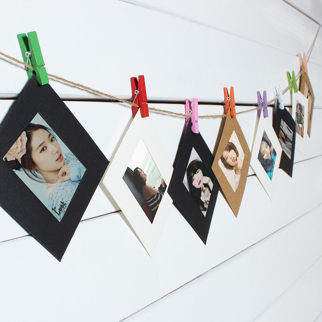 Pcs  Inch Photo Paper DIY Wall Picture Hanging Album Frame With