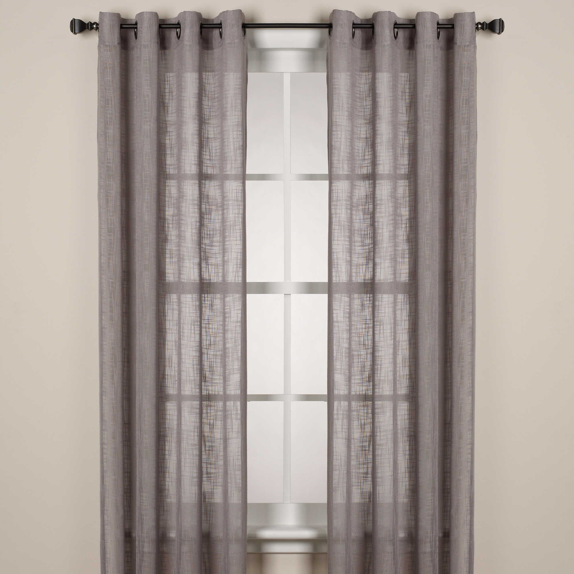 Alton Solid Grommet Window Curtain Panel- Bed Bath And