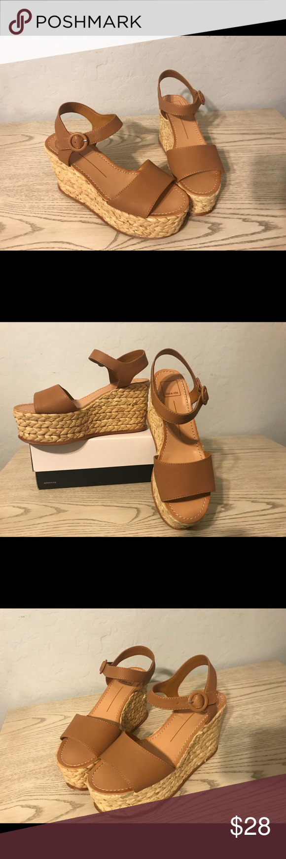 8e907d392dd Dolce Vita Dane Espadrilles Leather Wedge Sandals Never been worn ...
