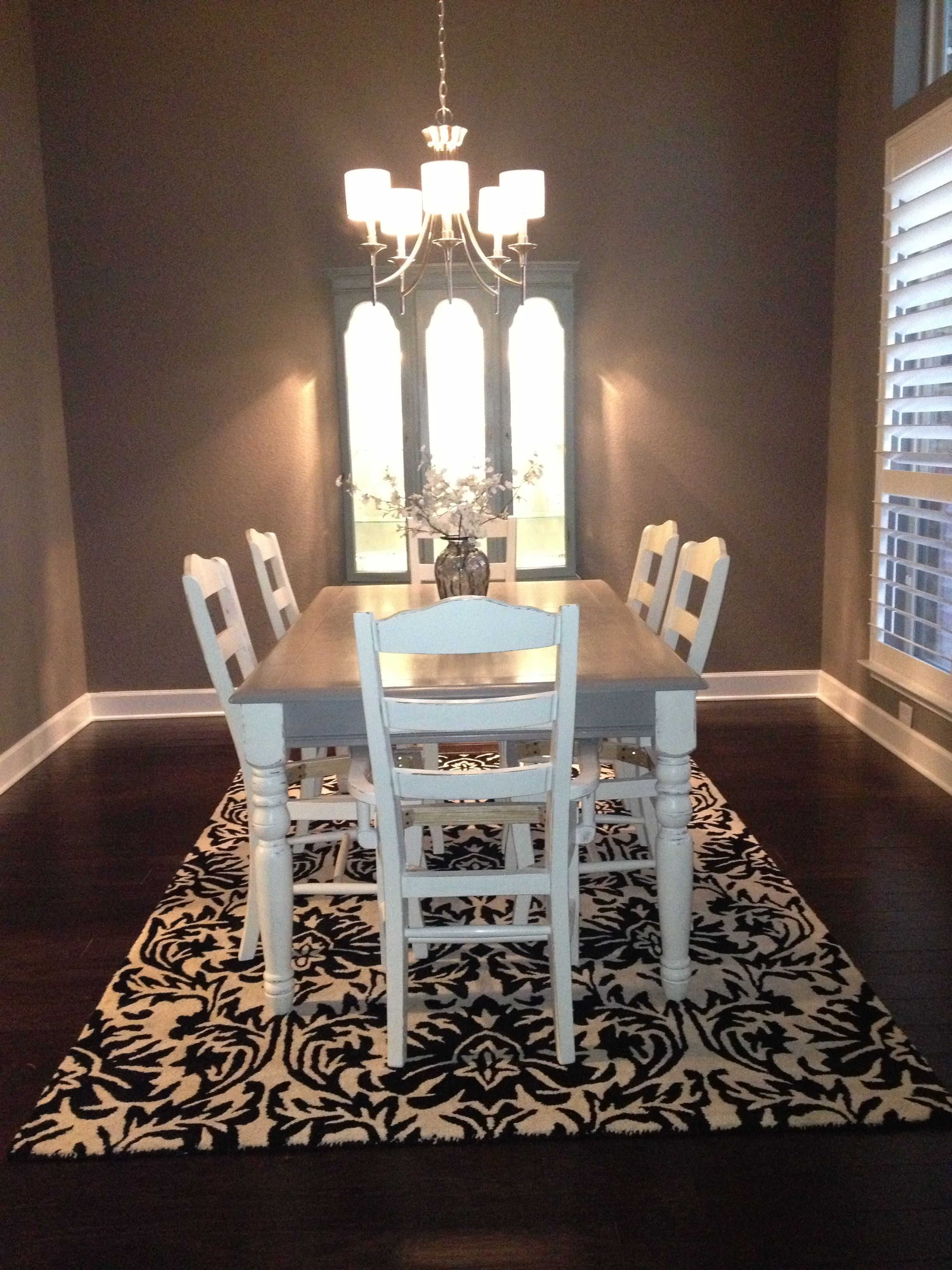 My dining room makeover! Love Annie Sloan chalkpaint.
