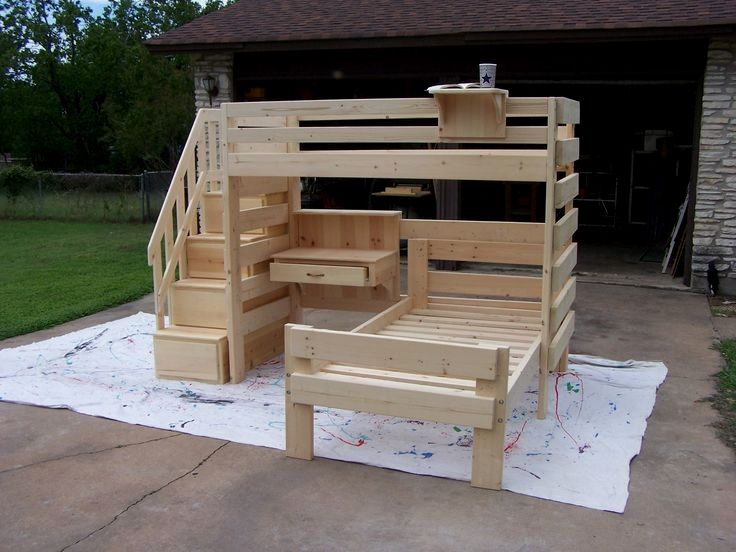 Why buy when there are these 34 diy bunk beds? images