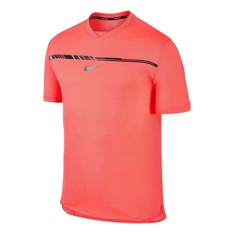 2766d7196 NIKE Court Tennis Men Rafa Nadal AeroReact Challenger Hot Punch Large  854662-667 #Nike #ShirtsTops
