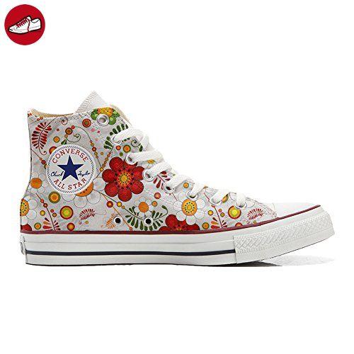 Converse All Star personalisierte Schuhe (Handwerk Produkt) Red Paisley  46 EU