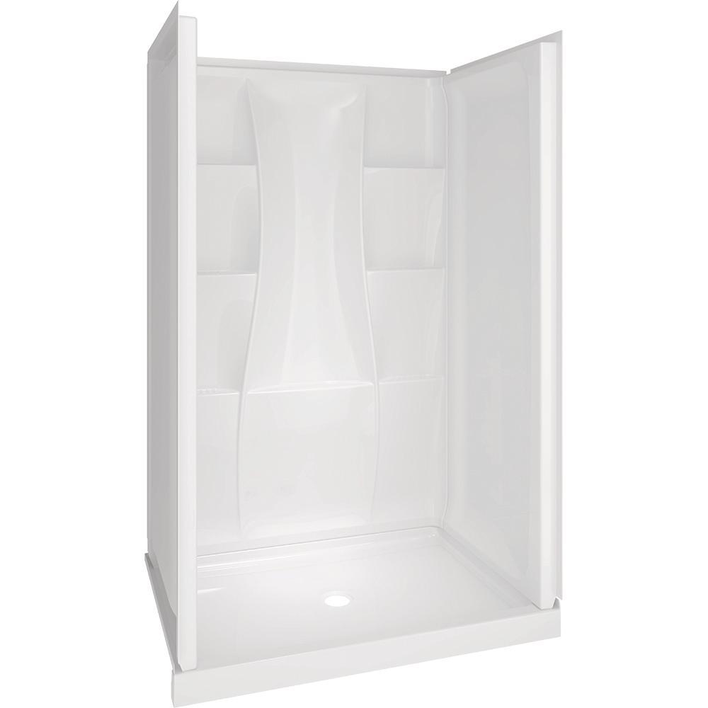 Delta Classic 400 34 In X 48 In X 77 In Shower Kit In White