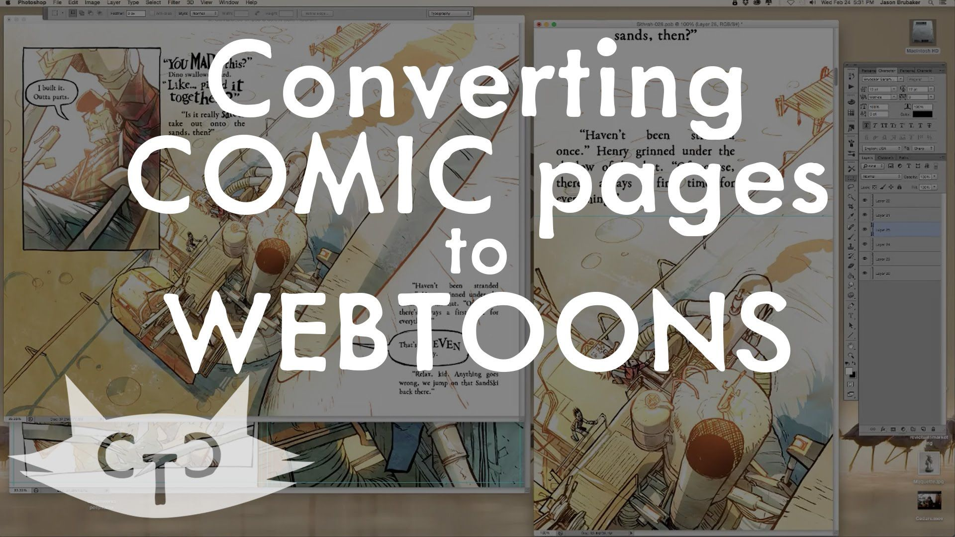 Converting comic pages to Webtoons.com format