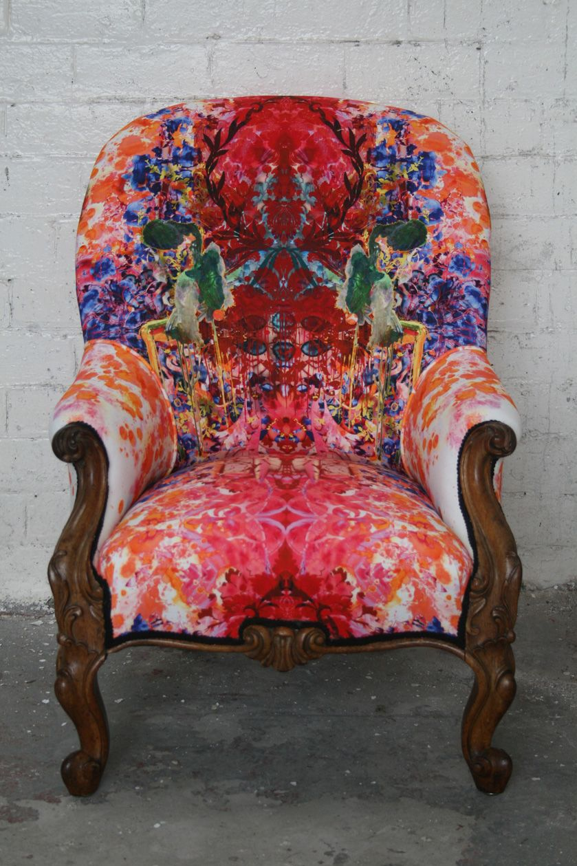 Early Victorian Armchair Furniture Timorous Beasties