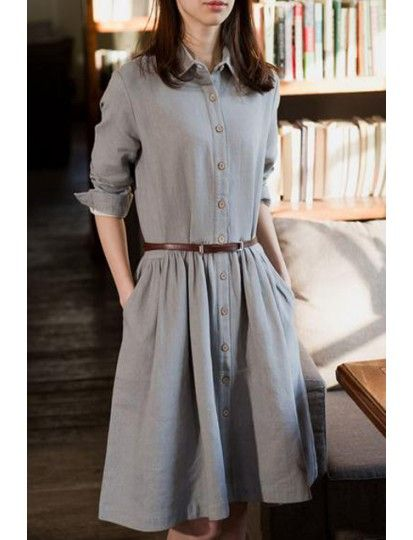 Literary And Vintage Tide Girl Long Sleeve Dress