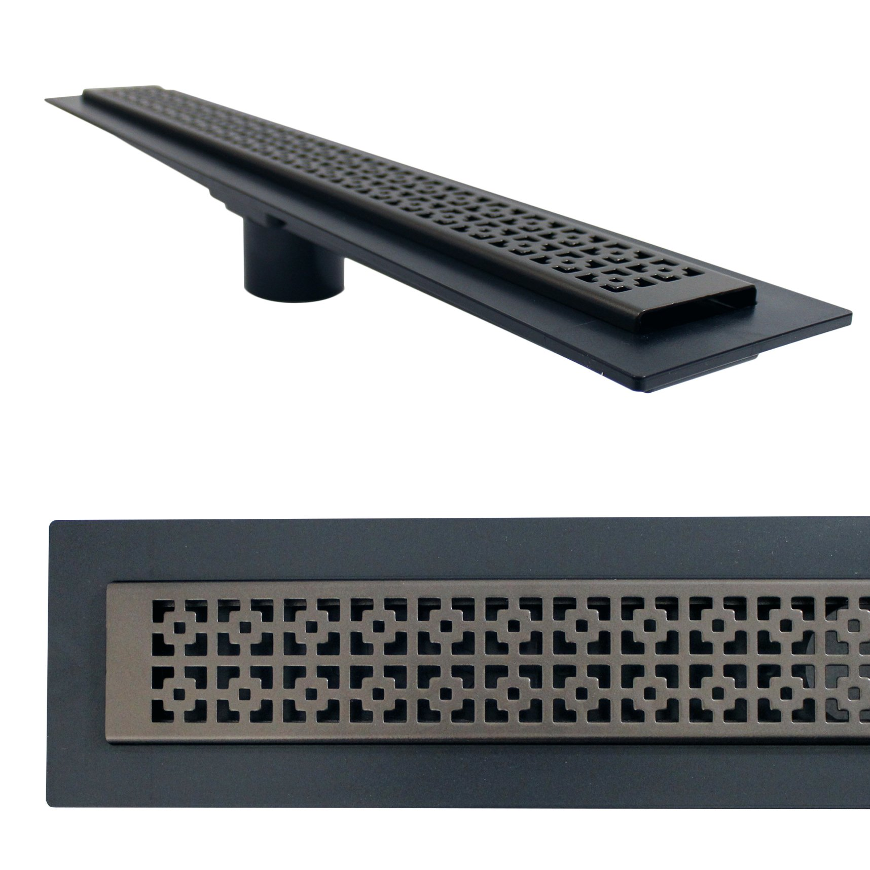 Linear Shower Drain Mission Grate 36 Oil Rubbed Bronze Drain