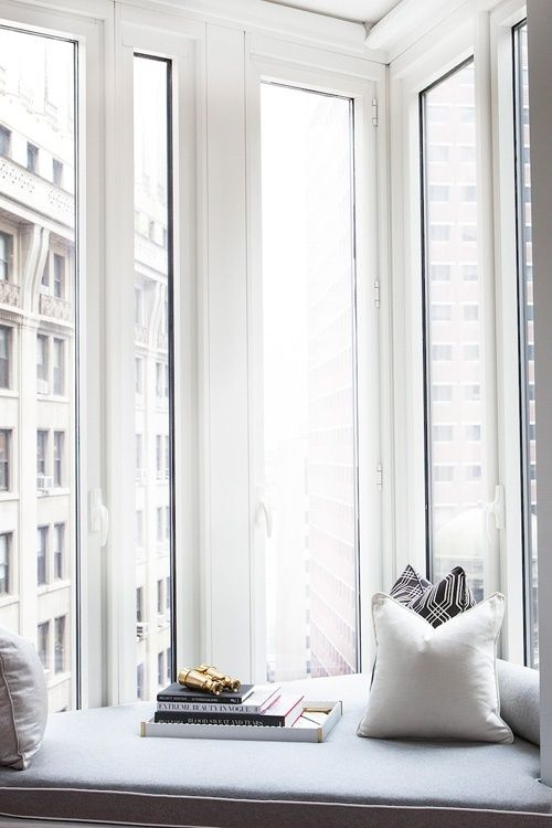 I always love a good window seat #nook