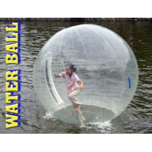 Amazon Com Inflatable Water Ball 7 Foot Clear Toys Games Walk On Water Water Fun Inflatable
