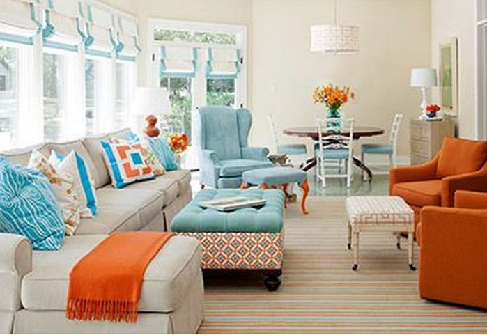 50+ Spring Color Home Decor Living Rooms_47