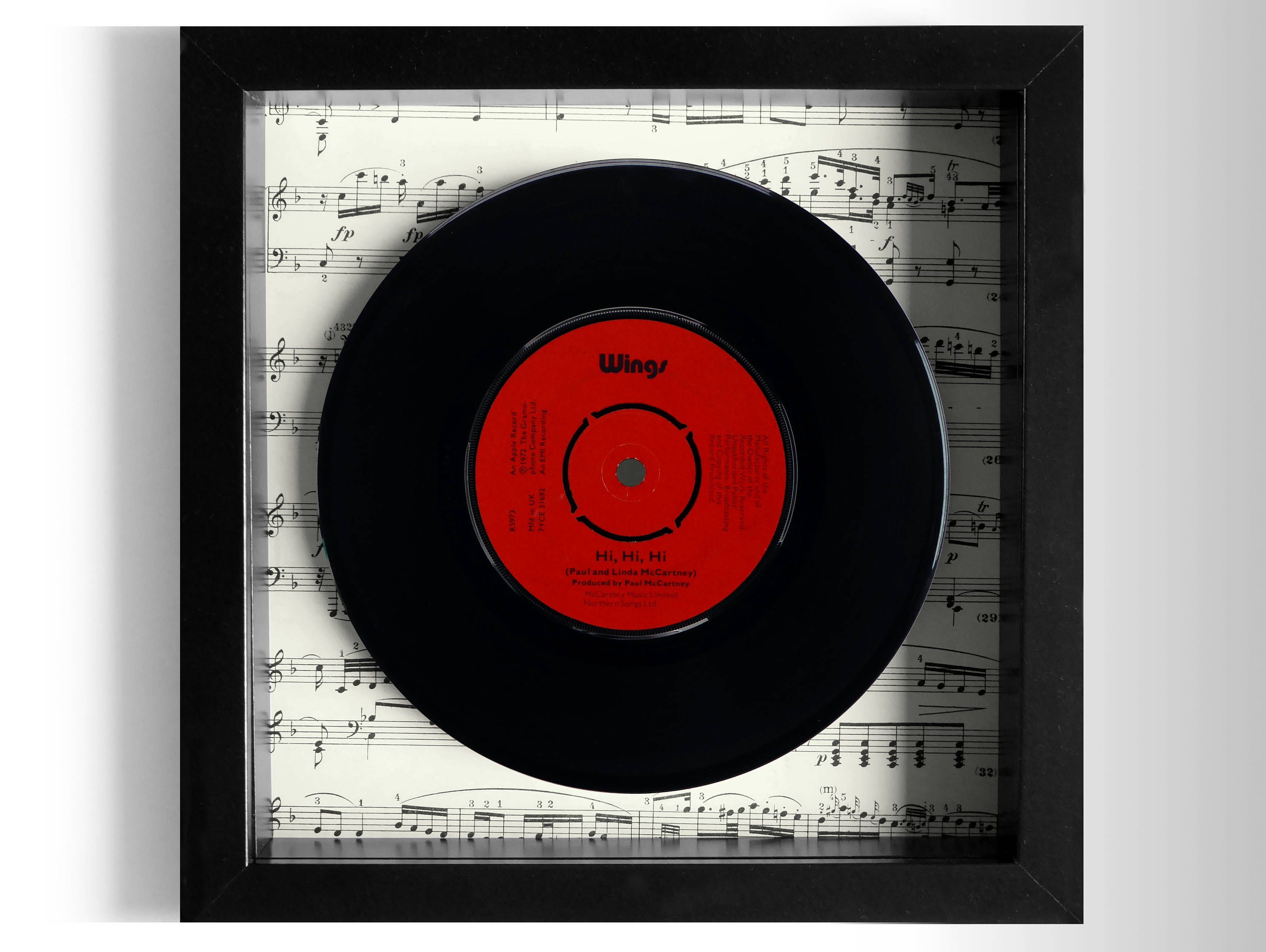 Wings Hi Hi Hi Framed 7 Vinyl Record Framed Records Vinyl Records Vinyl