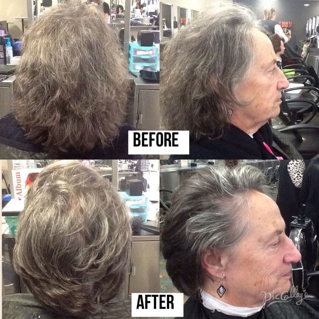 Before And After Haircut Trimming About 3 Inches And Using Nioxin