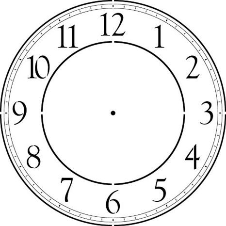 Contemporary 12 46 Clockface Wall Stencil Choice Of Sizes