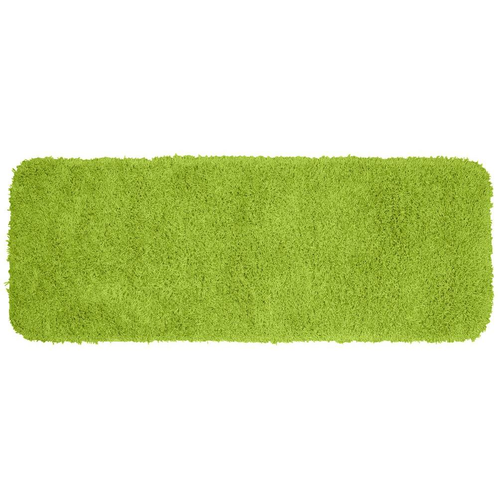 Garland Rug Jazz Lime Green 22 In X 60 In Washable Bathroom Accent Rug Green Bathroom Accessories Dark Green Bathrooms Pink Bathroom Accessories