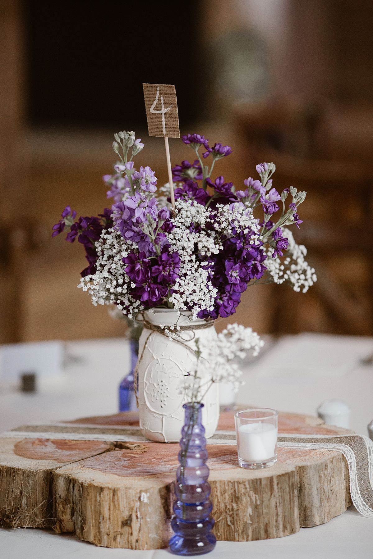 Charming Lavender Tennessee Wedding Rustic