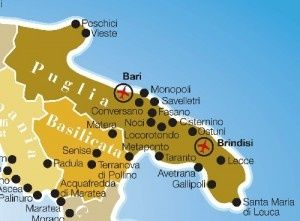 main airport in Apuglia Brindisi and Bari flights from all over