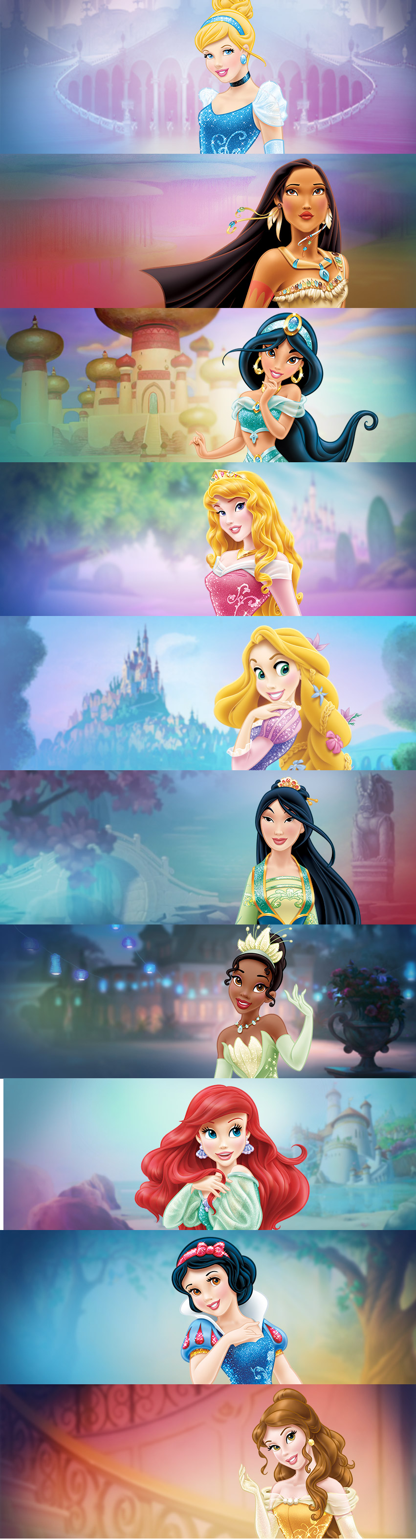 Disney princesses...what the HELL did they do to the princess'...why can't people just stick with the classics...little girls fall in love with the movies and these princess' look NOTHING like their movies ):