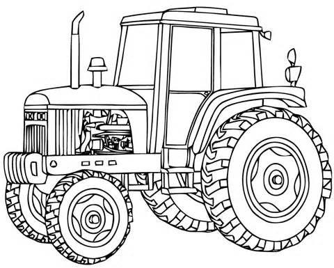 Des coloriages gratuits Tracteurs à imprimer et à colorier pour les ...