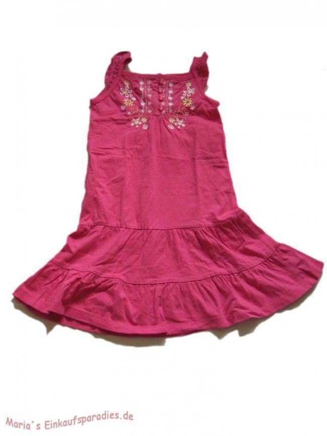 Topolino - Kleid - Trägerkleid - Tunika - Mädchen - bestickt - rosa - Gr. 122