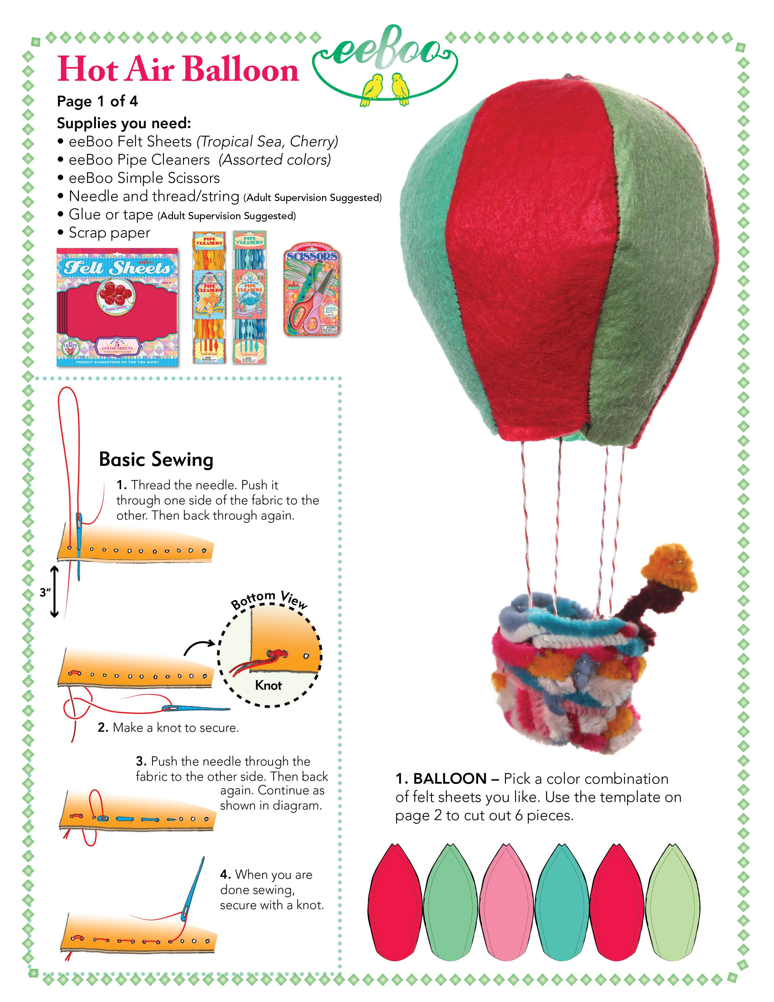 Up, Up, and Away in Your Own Hot-air Balloon!