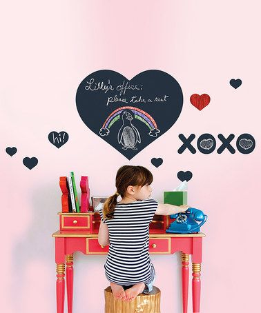 Black Chalkboard Heart Decal Set #zulily #zulilyfinds
