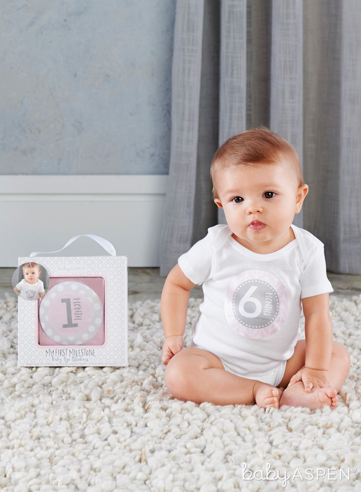 There Is No Denying That Time Flies When You Have A Little One Capture Her First Year With Photos Using These Mi Baby Month Stickers Month Stickers Baby Aspen