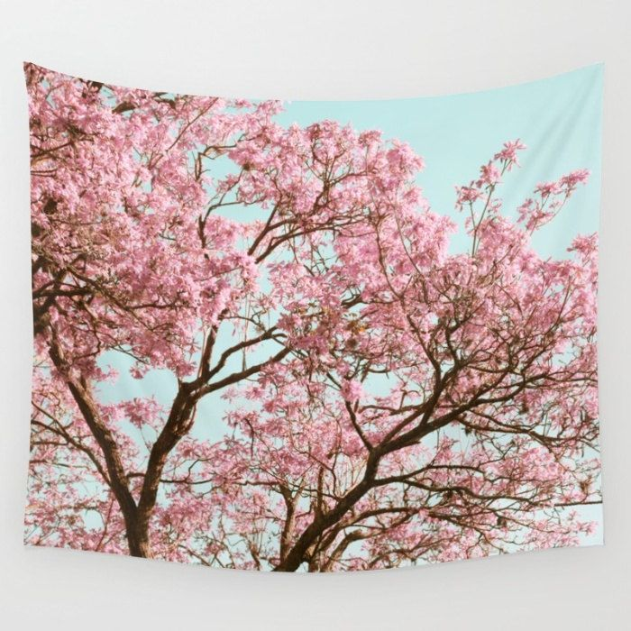 Cherry Blossom Wall Tapestry Tapestry Nature Tree Tapestry Tapestry