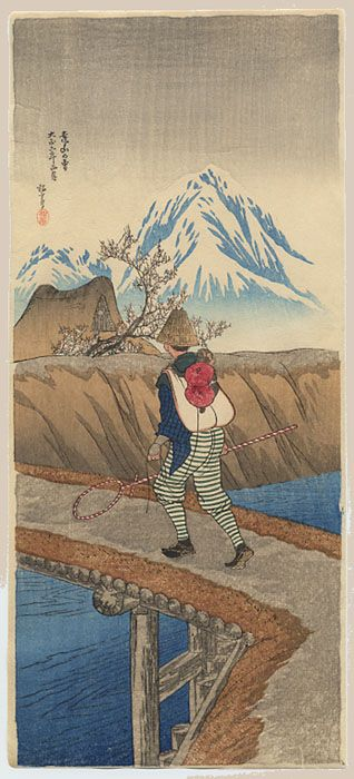 1917 - Shōtei, Takahashi - A Snow Mountain in the Distance