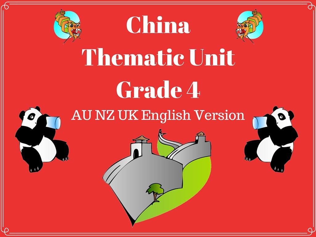 This China Thematic Unit Is Suitable For Use With Grade 4