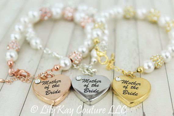 Mother Of The Bride Gift Groom Gold Bracelet Mob Mog