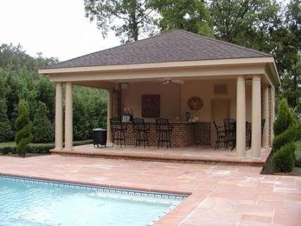 Backyard Kitchen And Pool Cabanas 44 Trendy Ideas #kitchen ...