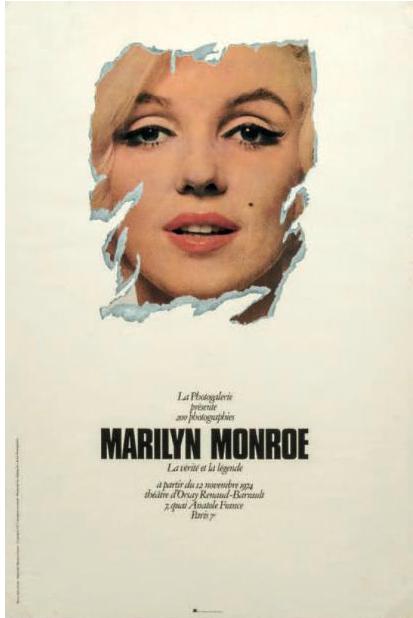 Bert STERN Marilyn Monroe 1973 Affiche d'époque Dim. 58 x 38 CM