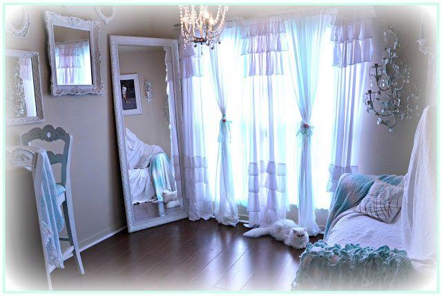 Not So Shabby - Shabby Chic: Love the curtains!