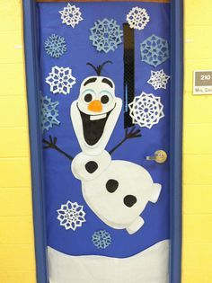 Kids Will Love This Winter Door Decoration Olaf From Frozen