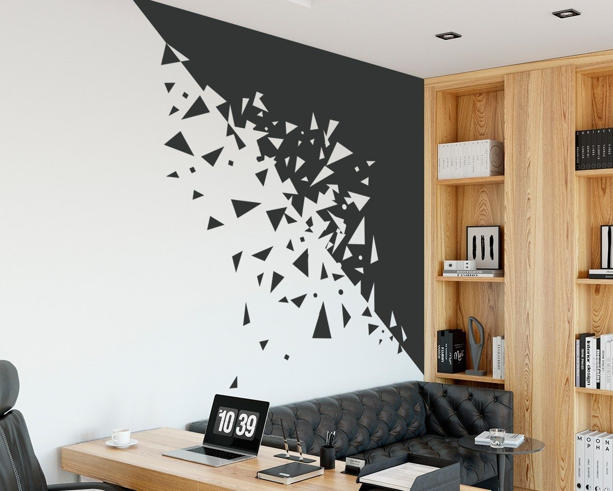 Abstract Fragmented Wall Decal Cheap wall decor