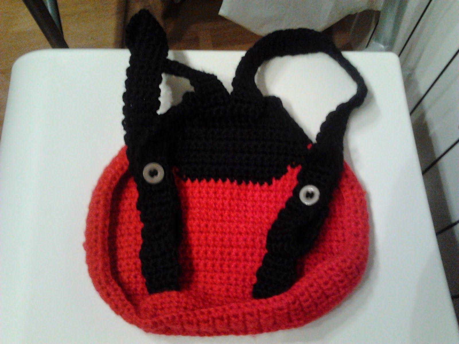 Correcciones del patrón de mochila mariquita en crochet de hasta el ...