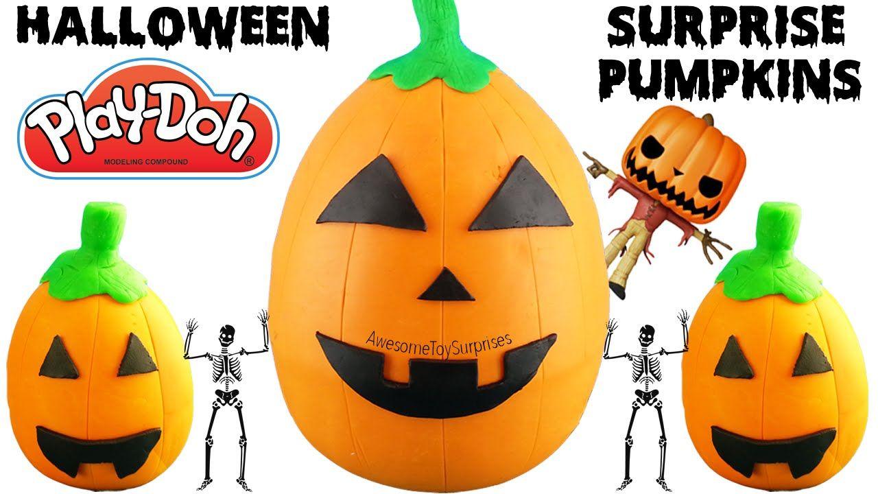 Halloween Pumpkin Playdoh Surprise Eggs Halloween Surprise