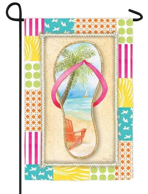 Elegant Flip Flop Beach Garden Flag