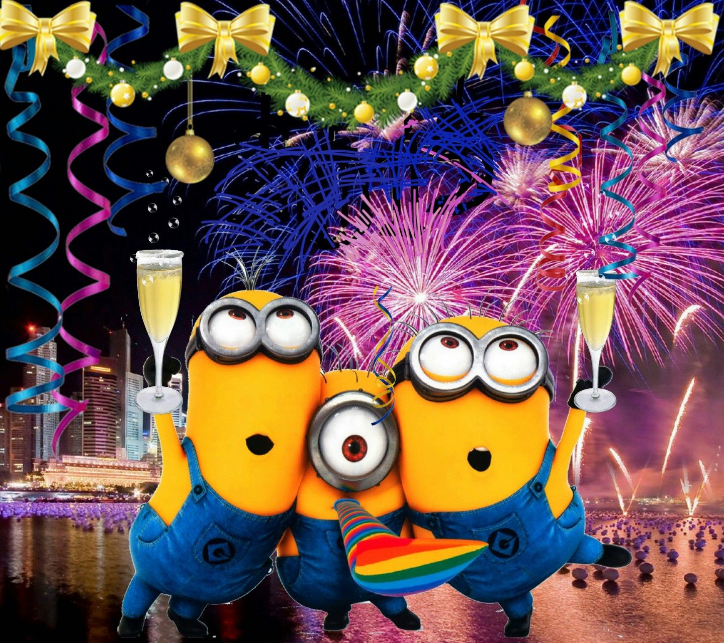 Image of: Wishes Happy New Year Minions Pinterest Happy New Year Minions Respect The Minion Pinterest