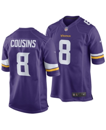 72927b0a Nike Kirk Cousins Minnesota Vikings Game Jersey, Big Boys (8-20) in ...