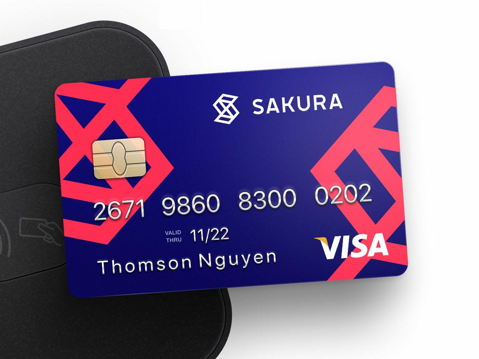 Sakura Credit Card Design Gift Card Number Card Design