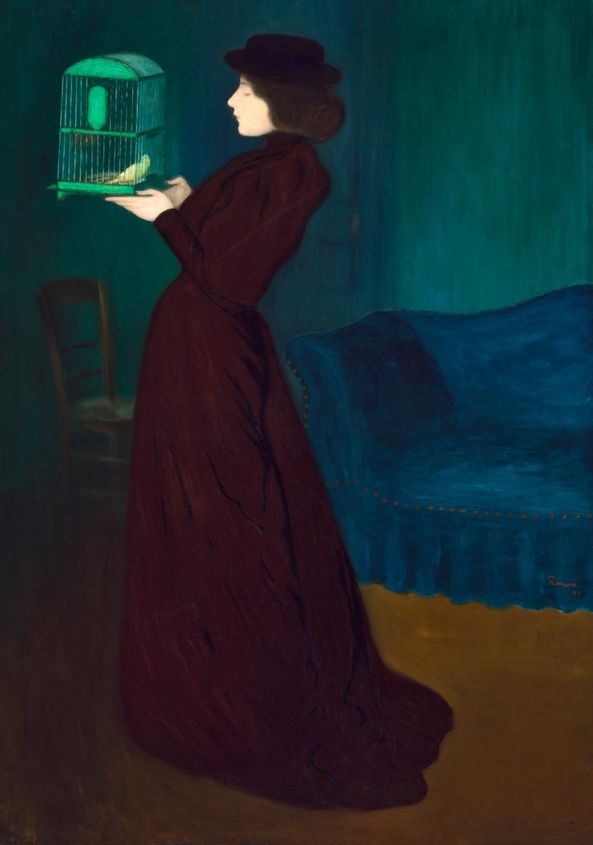 7fb3473a3ed József Rippl Rónai - Woman with a bird cage - 1892